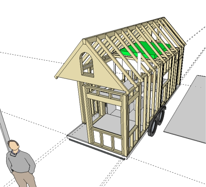 A tiny house SketchUp Model